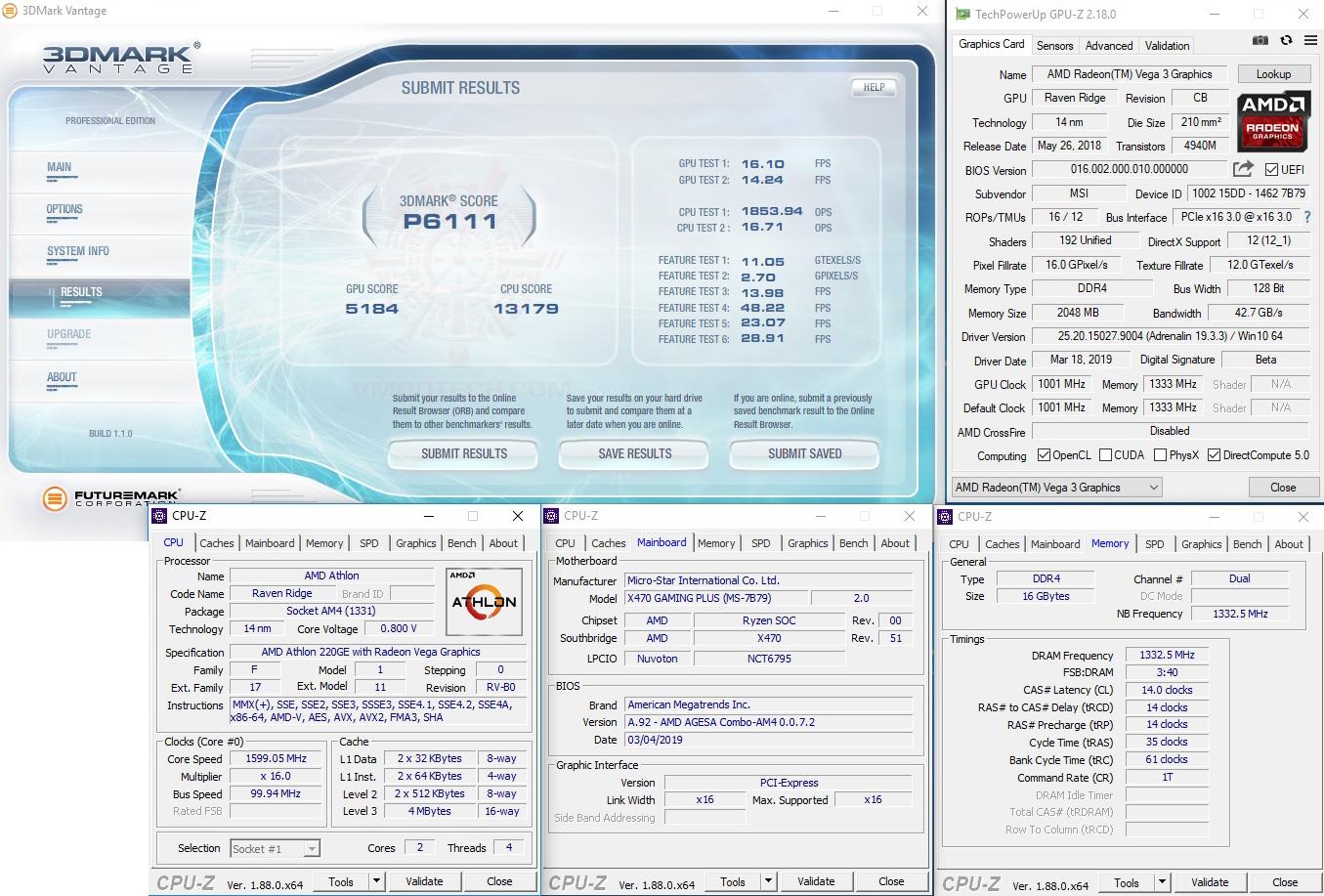 vt AMD Athlon 220GE Processor with Radeon Vega 3 Graphics Review