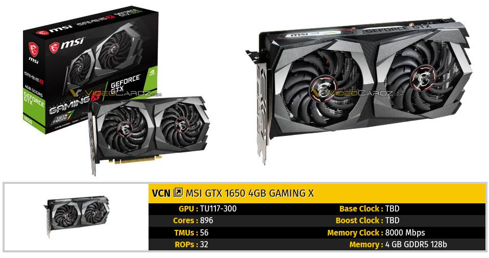 2019 04 22 9 12 591 เผยภาพการ์ดจอ Nvidia GeForce GTX 1650 หลายแบรนด์ก่อนเปิดตัวอย่างเป็นทางการ