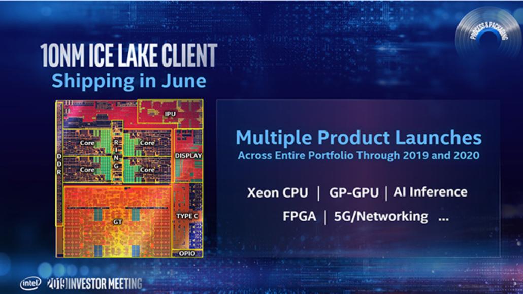 "2019 05 09 1 49 29 1030x579 อินเทลเตรียมเปิดตัวซีพียู Intel Ice Lake"" ขนาดสถาปัตย์ 10nm ในเดือนมิถุนายนปี 2019 และ 7nm ในปี 2021"