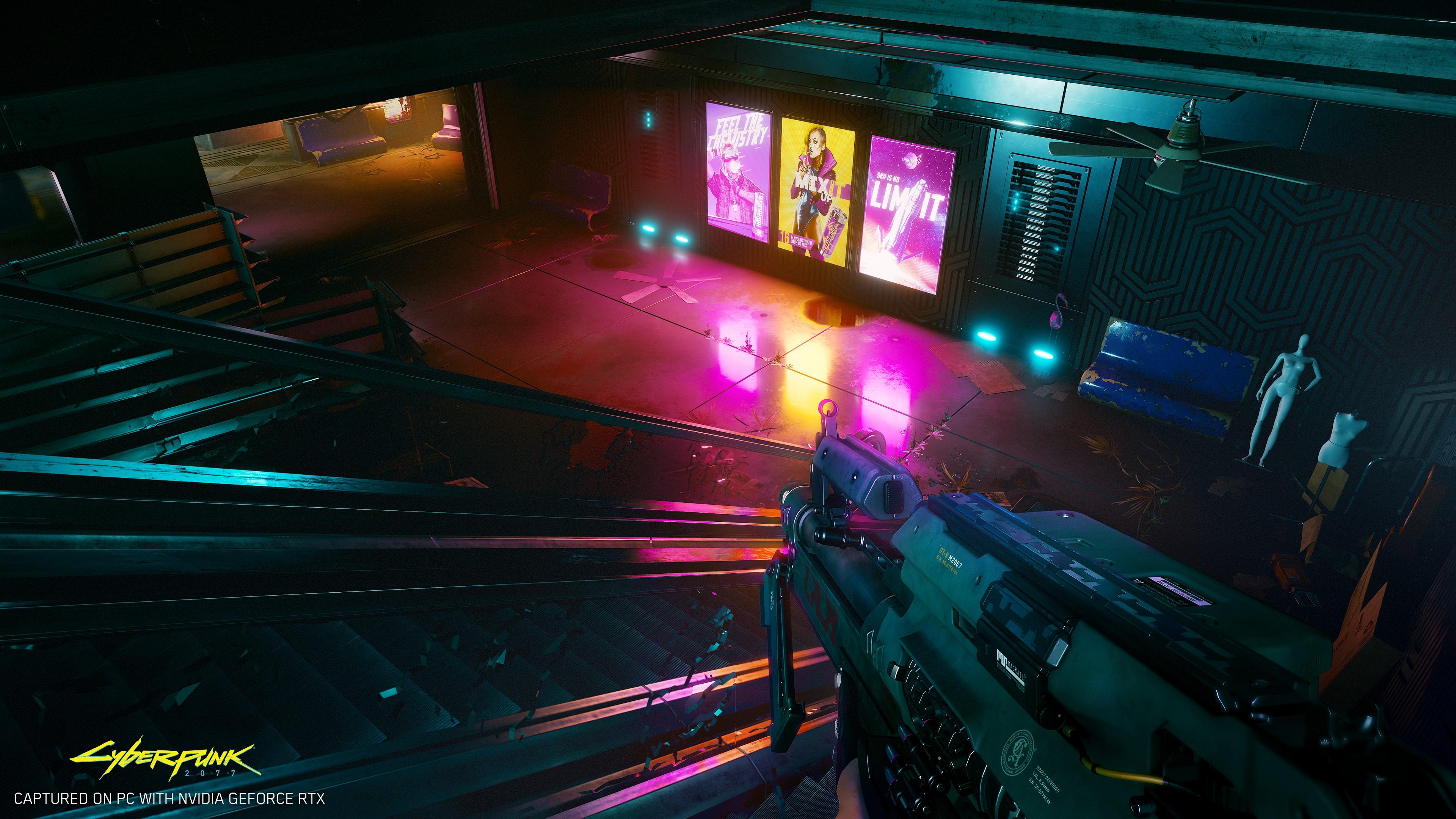 cyberpunk 2077 abandoned mall NVIDIA และ CD PROJEKT RED ประกาศอย่างเป็นทางการให้การ์ดจอ NVIDIA GeForce RTX ซัพพอตพาทเนอร์เกมส์ Cyberpunk 2077 ด้วยเทคโนโลยี Ray Tracing