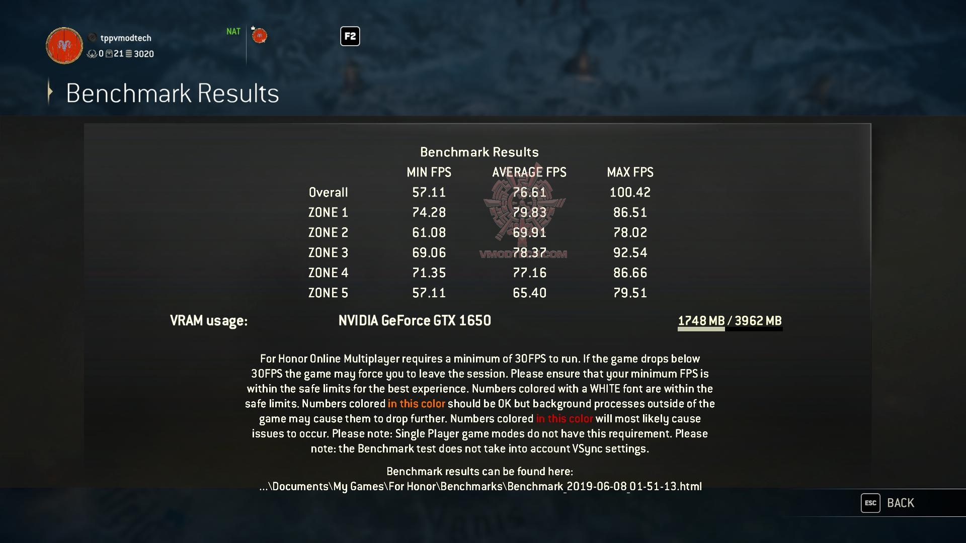 forhonor 2019 06 08 01 51 20 86 MSI GF75 Thin 9SC Review