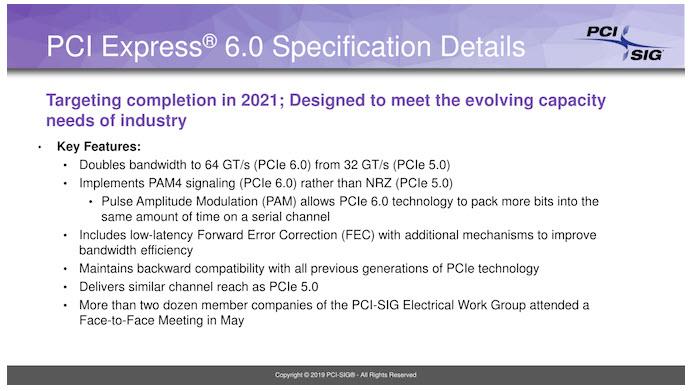PCI-SIG ประกาศรายละเอียดสเปค PCIe 6.0 กับความเร็วสูงสุดถึง 64 GT/s กันเลยทีเดียวพร้อมใช้งานในปี 2021