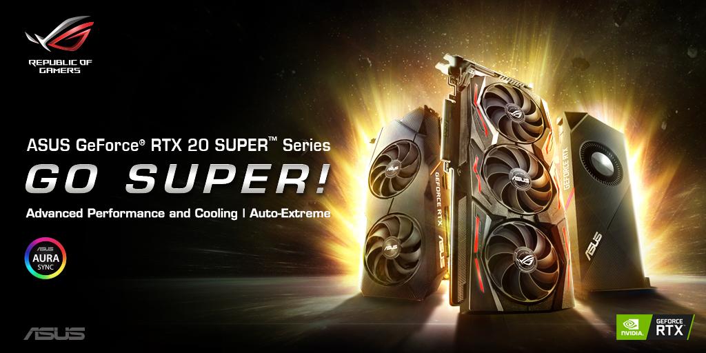 s1920x1080 vga geforce rtx 20 super series banner 1024x512 jpg ASUS เปิดตัวกราฟิกการ์ด ROG Strix, ASUS Dual EVO, and ASUS Turbo EVO ในซีรีย์ GeForce® RTX 20 SUPER™ มากมายแรงจัดเต็มหลายรุ่นเพื่อคอเกมส์มิ่งตัวจริง!!