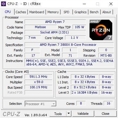 ซีพียู AMD Ryzen 7 3800X รุ่นใหม่ล่าสุดถูกโอเวอร์คล๊อกทะลุความเร็ว 5.9 GHz ด้วย LN2 ไนโตรเจนเหลว