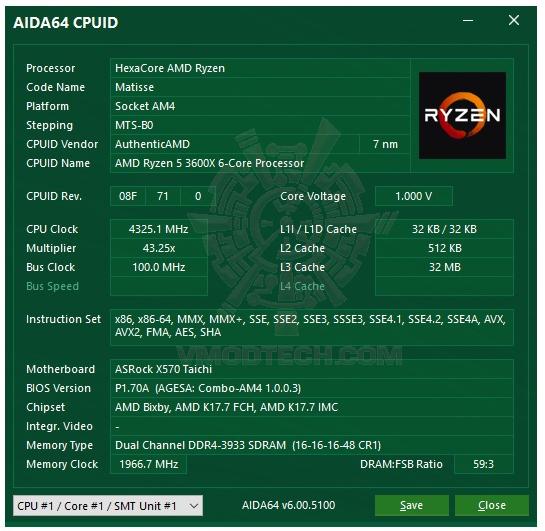 asida64 ASRock X570 Taichi Review