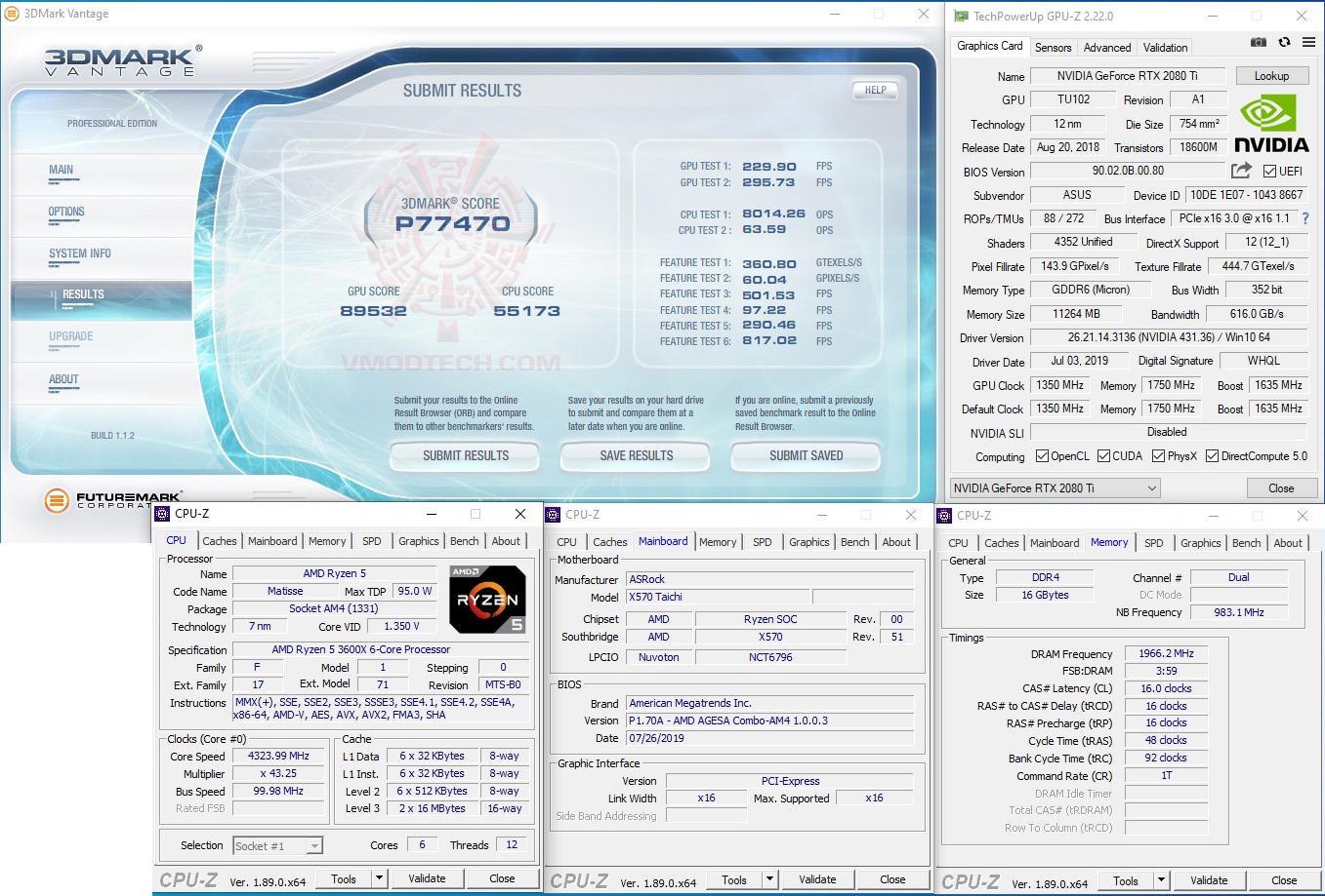 vt ASRock X570 Taichi Review
