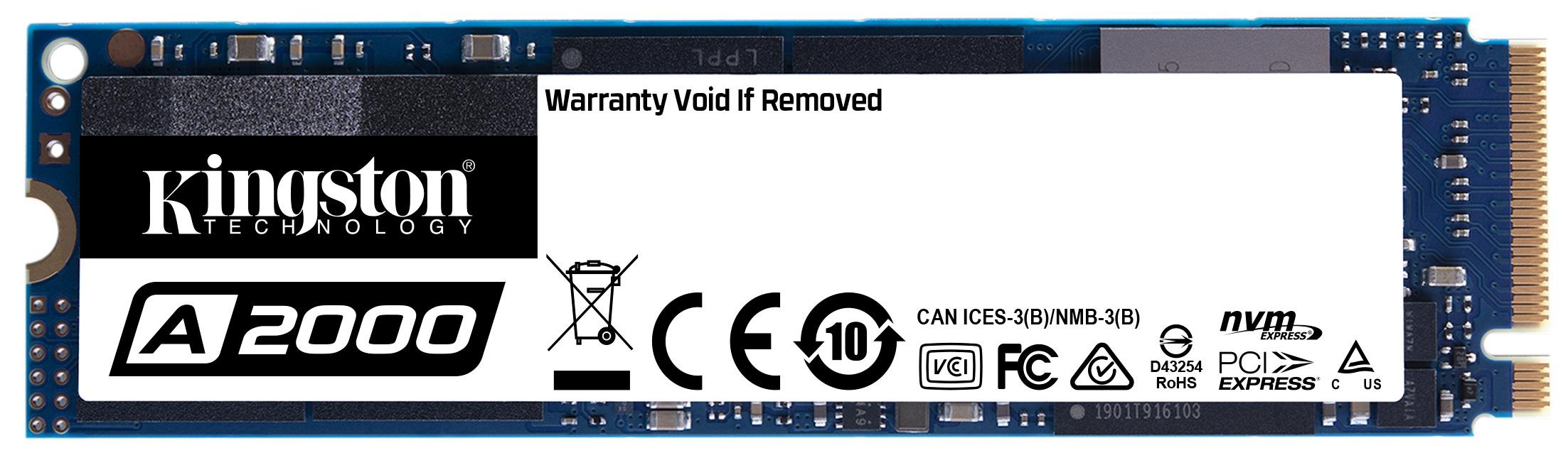 Kingston เปิดตัว SSD รุ่นใหม่ A2000 ในแบบ PCIe NVMe