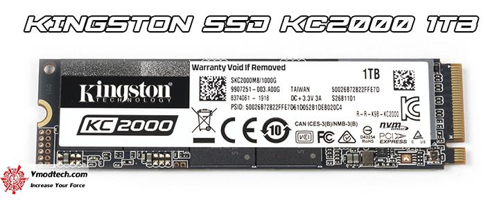 main KINGSTON SSD KC2000 1TB Review