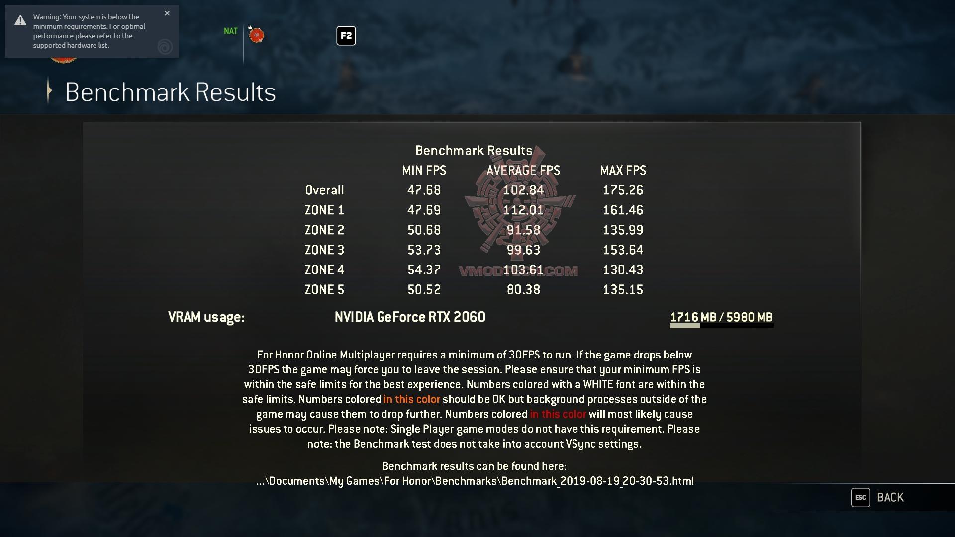 forhonor 2019 08 19 20 31 01 73 MSI GE65 Raider 9SE Review