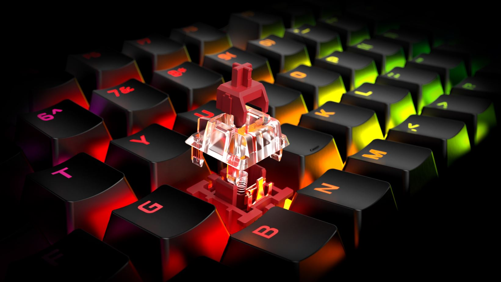 hyperx red switch keycap HyperX เปิดตัวสวิทช์ HyperX Aqua สำหรับคีย์บอร์ดและผลิตภัณฑ์ชาร์จไฟแบบไร้สายที่ได้การรับรอง Qi ที่งาน Gamescom