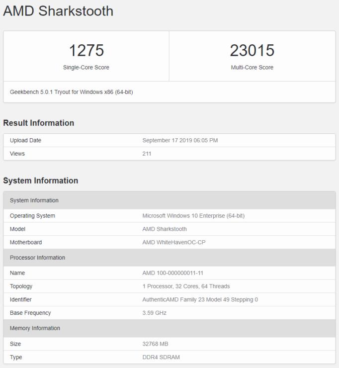 amd ryzen threadripper 3000 cpu geekbench 5 682x740 AMD Ryzen Threadripper 3000 รุ่นใหม่ล่าสุด 32คอร์ 7nm สถาปัตย์ Zen 2 แรงกว่า Ryzen Threadripper 2990WX รุ่นเดิมมากถึง 70% กันเลยทีเดียว