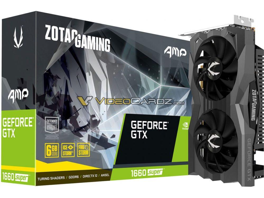 zotac gtx 1660 super amp 1000x750 หลุดภาพ Nvidia GeForce GTX 1660 SUPER ใช้แรมแบบ GDDR6 6GB อย่างไม่เป็นทางการ