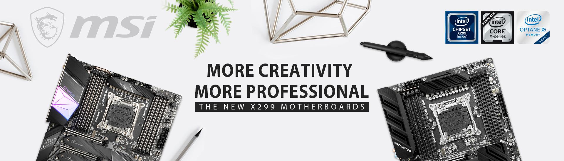 1920x550 โปรเฟรชั่นนอลกว่าด้วยเมนบอร์ดสายครีเอเตอร์ MSI CREATOR X299 คู่กับ CPU INTEL CORE X SERIES รุ่นใหม่ แรงสุด!!