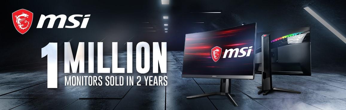 MSI ฉลองยอดขายจอมอนิเตอร์ 1 ล้านเครื่องในเวลาเพียง 2 ปี