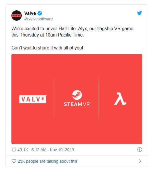 2019 11 19 9 06 20 Half Life มาแล้ว!! มาในเวอร์ชั่น Steam VR ในภาคของ Half Life : Alyx พร้อมเปิดตัววันพฤหัสบดีที่จะถึงนี้
