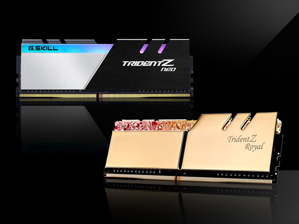 gskill tridentz neo royal G.SKILL เปิดตัวแรมประสิทธิภาพสูง TridentZ Neo และ TridentZ Royal สำหรับ HEDT ที่ใช้งานทั้งแพลตฟอร์ม Intel X299 และ AMD TRX40 รุ่นใหม่ล่าสุดพร้อมวางจำหน่ายแล้ว
