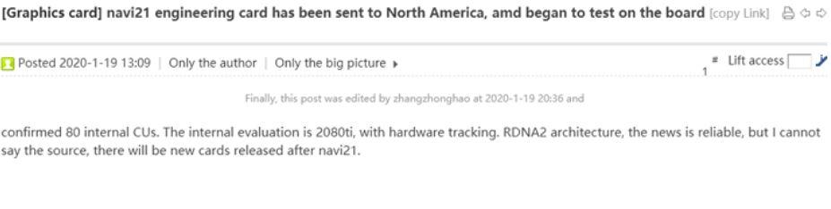 amd rx 5950 xt 80 cus big navi 1 ลือ!! AMD Radeon 5950 XT รุ่นใหญ่สถาปัตย์ NAVI อาจจะแรงกว่าการ์ดจอรุ่นท็อปของฝั่ง Nvidia เลยทีเดียว