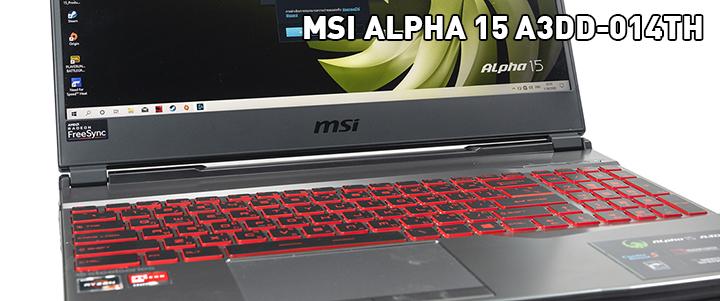 main1 MSI ALPHA 15 A3DD 014TH  Review