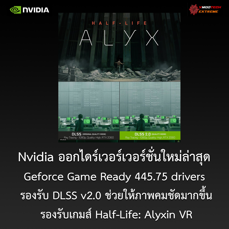 NVIDIA ออกไดร์เวอร์เวอร์ชั่นใหม่ Geforce Game Ready 445.75 drivers รองรับ DLSS v2.0 รุ่นใหม่ล่าสุด