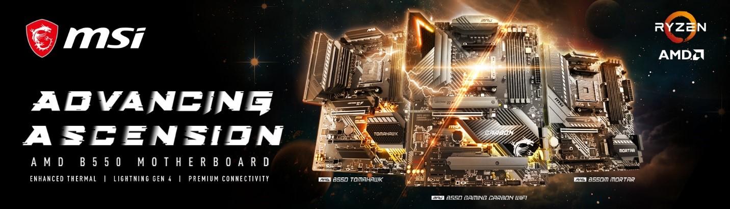 1 MSI เปิดตัวเมนบอร์ด B550 รุ่นใหม่ล่าสุดในแพลตฟอร์ม AMD AM4 ที่มาครบทั้งซีรี่ส์ MPG, MAG และ Pro series