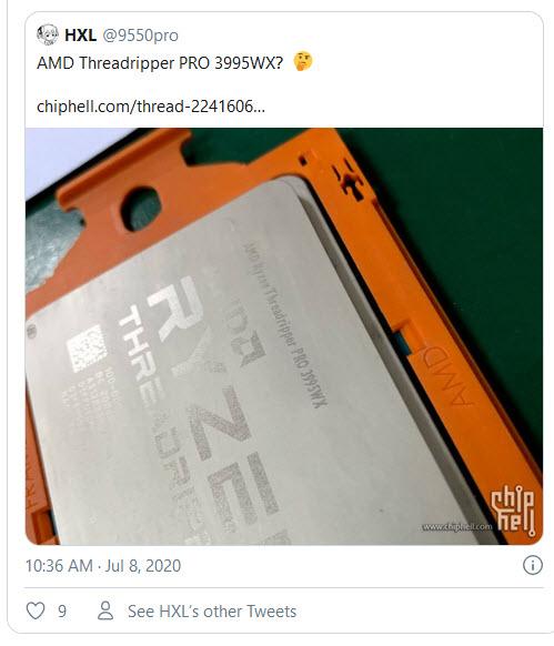 2020 07 08 16 10 27 หลุดรูปภาพซีพียู AMD Ryzen Threadripper PRO 3995WX รุ่นใหม่ล่าสุดอย่างไม่เป็นทางการ