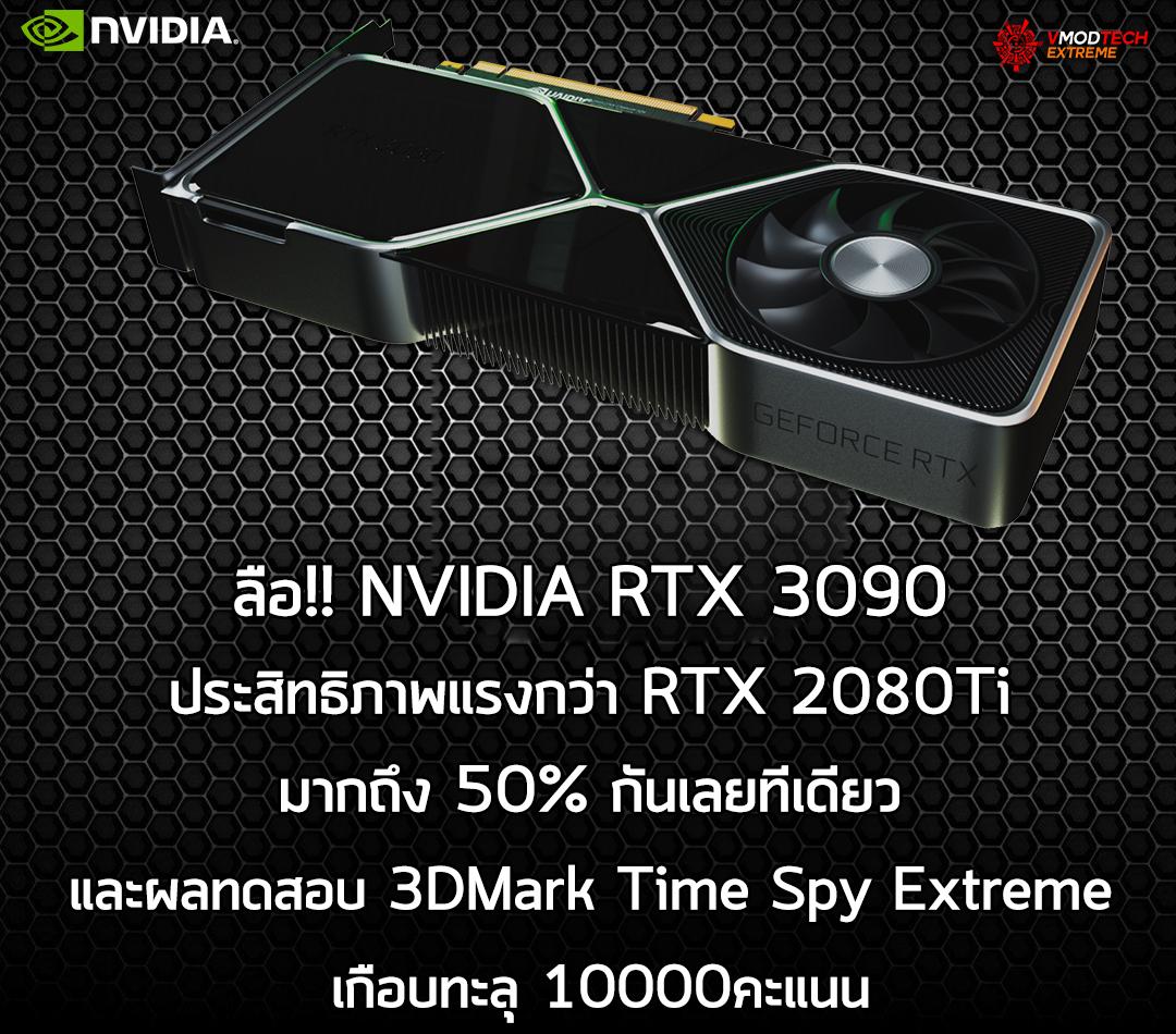 ลือ!! NVIDIA RTX 3090 ประสิทธิภาพแรงกว่า RTX 2080Ti มากถึง 50% กันเลยทีเดียว