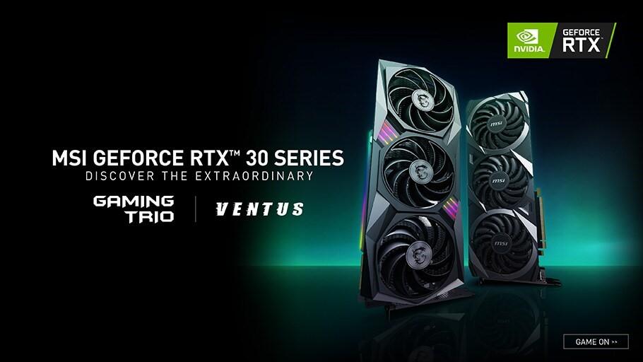12 MSI เปิดตัวการ์ดจอ CUSTOM NVIDIA GEFORCE RTX 30 SERIES เป็นคร้ังแรก 2ซีรี่ย์ GAMING , VENTUS ในรุ่น GeForce RTX 3090, 3080, และ 3070