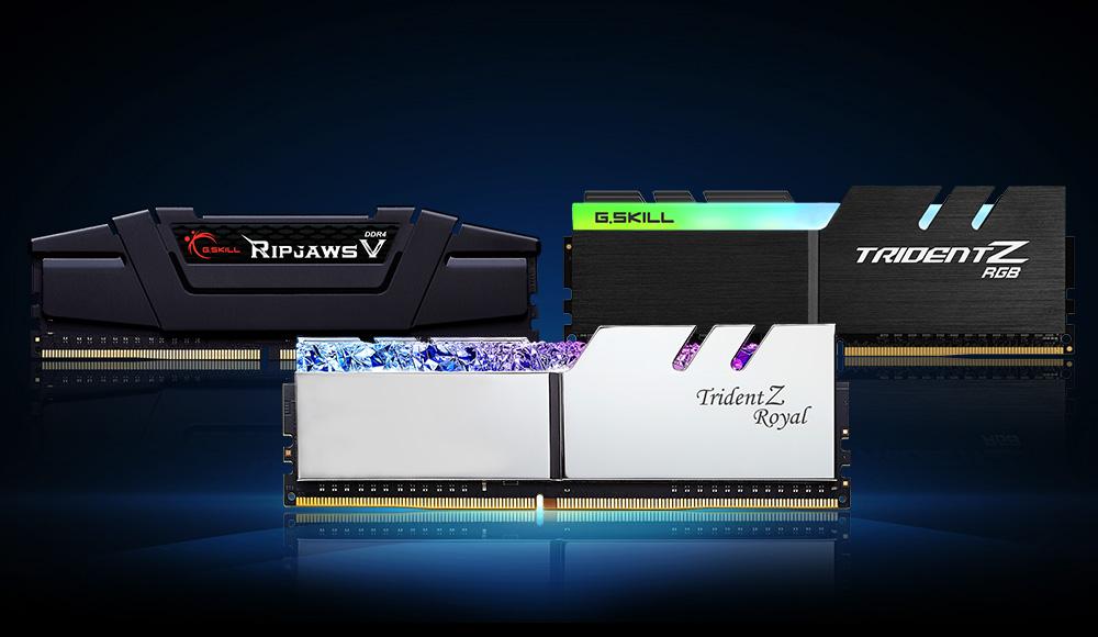00 main image tridentzroyal tridentzrgb ripjawsv G.SKILL เปิดตัวแรมรุ่นใหม่ล่าสุด Trident Z Royal , Trident Z RGB , และ Ripjaws V Series ที่เน้น Latency ต่ำในบัส DDR4 4000 CL16 และ DDR4 4400 CL16
