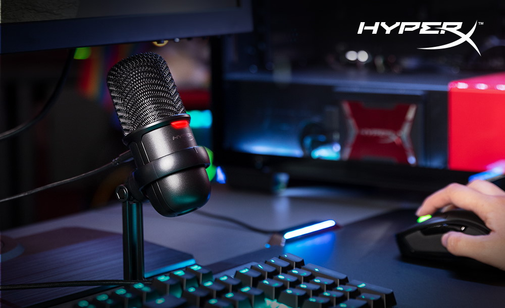 hyperx solocast 1 HyperX เสริมไลน์ไมโครโฟนรุ่นใหม่ เปิดตัว QuadCast S และ SoloCast ไมโครโฟน USB ในแบบ Plug N Play ที่เพิ่มเติมมาในกลุ่มไมโครโฟนของ HyperX ประกอบด้วย QuadCastTM และ QuadCast S มาพร้อมแสงไฟ RGB ใช้งานได้ 4 รูปแบบ และเมาท์กันสั่นสะเทือนมาในตัว