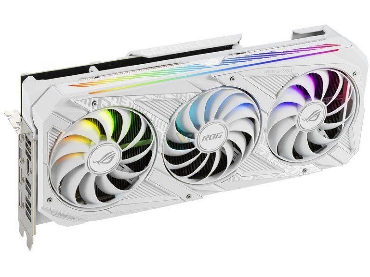 asus geforce rtx 3070 8gb rog strix white oc9 เอซุสเปิดตัวการ์ดจอ ASUS RTX 3090 ROG STRIX White OC , RTX 3080 และ RTX 3070 ทั้งหมด 3รุ่นใหม่ล่าสุด
