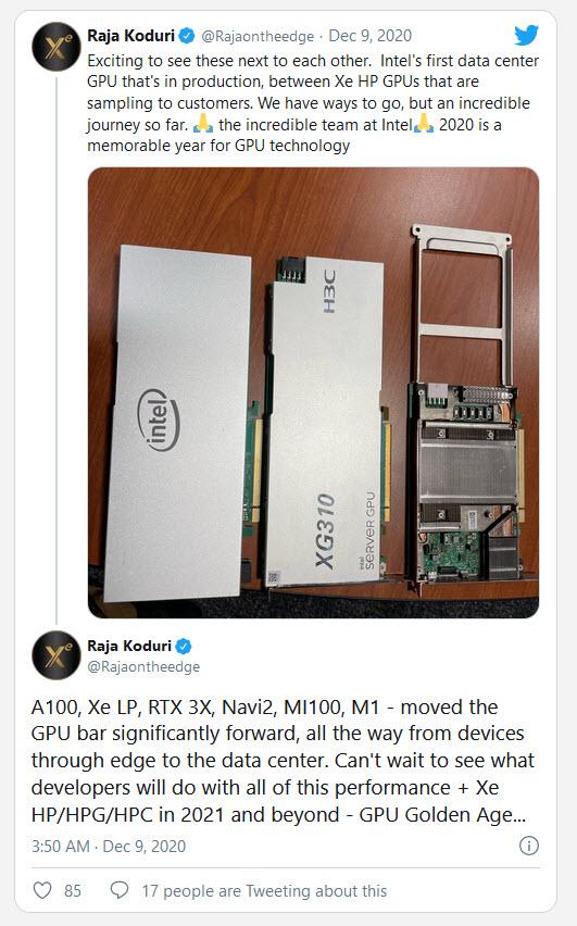 2020 12 09 10 32 19 Raja Koduri เผยภาพการ์ดจอ Intel XG310 พร้อมบอกเป็นยุคทองของการ์ดจอ Intel Xe HP ในงาน Data Center ในปี 2021