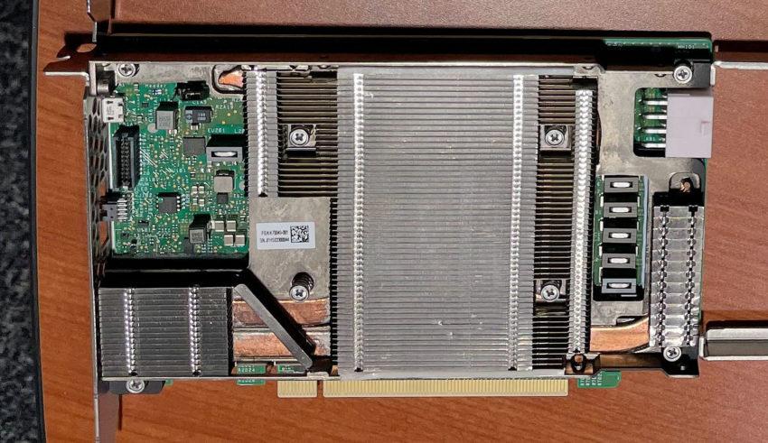 intel xe hp sigle slot pcie design 850x491 Raja Koduri เผยภาพการ์ดจอ Intel XG310 พร้อมบอกเป็นยุคทองของการ์ดจอ Intel Xe HP ในงาน Data Center ในปี 2021