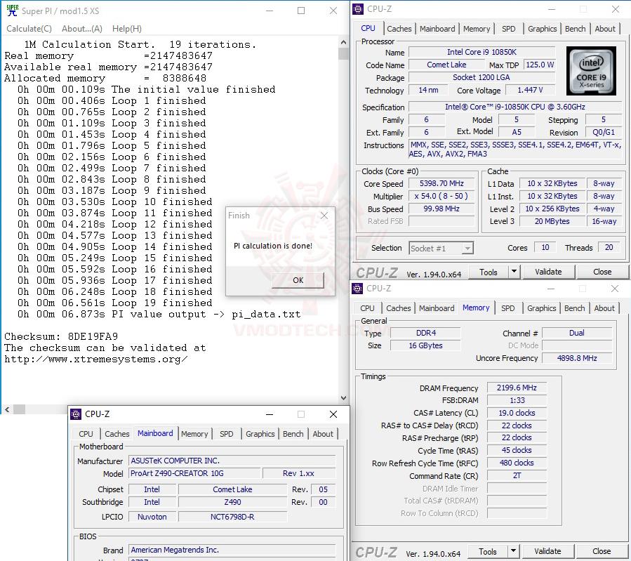 s1 oc max INTEL CORE i9 10850KA PROCESSOR REVIEW
