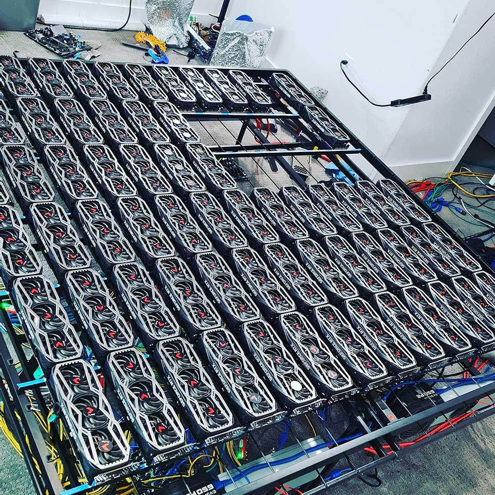 geforce rtx 3080 mining rig เกมส์เมอร์ไม่ถูกใจสิงนี้!! พบริกขุดเหมืองในการ์ดจอรุ่น GeForce RTX 3080 มากถึง 78ตัวสามารถทำเงินต่อเดือนได้มากถึง 2หมื่นดอลล่าสหรัฐฯต่อเดือนหรือประมาณ 6แสนกว่าบาทไทย
