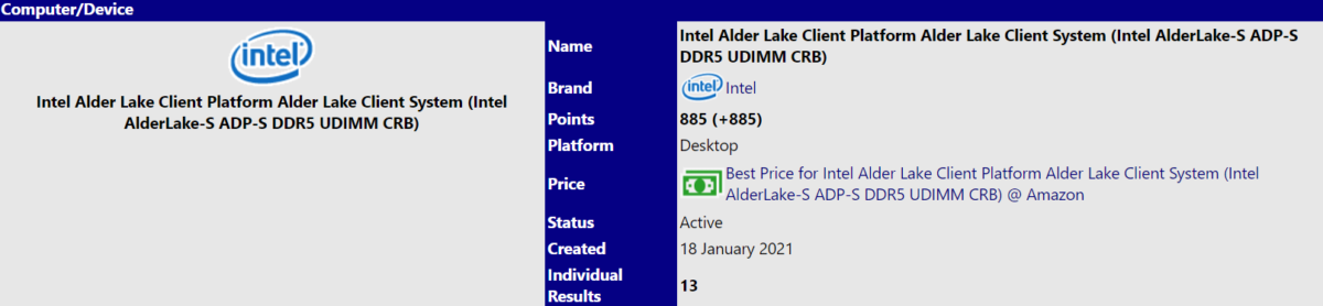 intel alder lake s 16 core 4 ghz 1200x278 หลุดข้อมูลซีพียู Intel Alder Lake S สถาปัตย์ 10nm SuperFin จำนวนคอร์ 16C/24T ความเร็ว 4GHz รองรับแรม DDR5 4800Mhz