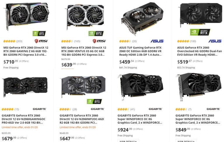 nvidia geforce rtx 2060 newegg in stock 768x488 ลือ!! Nvidia อาจนำการ์ดจอ NVIDIA GeForce RTX 2060 รุ่นธรรมดาและรุ่น Super ออกมาเปิดตัวและวางขายใหม่