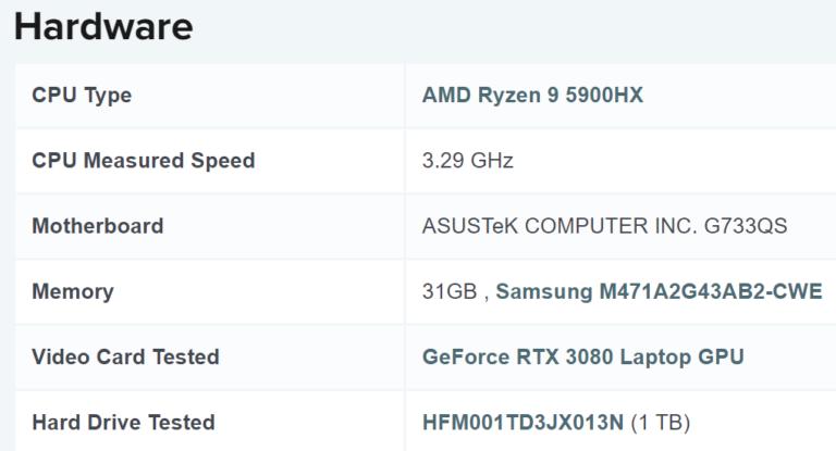amd ryzen 9 5900hx passmark single result 768x415 หลุดผลทดสอบซีพียู AMD Ryzen 9 5900HX รุ่นใหญ่รหัส Cezanne ที่ใช้งานในแล็ปท็อปเกมส์มิ่งประสิทธิภาพแรงอยู่หัวแถวในโปรแกรม PassMark กันเลยทีเดียว