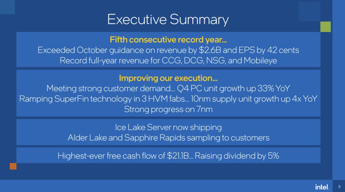 intel q4 earnings alder lake sampling 1200x670 ผู้บริหารอินเทลยืนยันซีพียู Intel Alder Lake ขนาด 10nm จะมีความพร้อมในการผลิตทั้งรุ่นเดสก์ท็อปและแล็ปท็อปช่วงครึ่งปีหลัง 2021