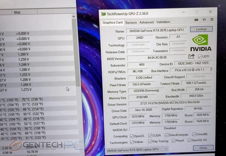msi ge66 raider geforce rtx 3070 max p 768x532 เผยผลทดสอบการ์ดจอ Nvidia GeForce RTX 3070 Max P มีประสิทธิภาพแรงกว่ารุ่น Max Q มากถึง 30% กันเลยทีเดียว
