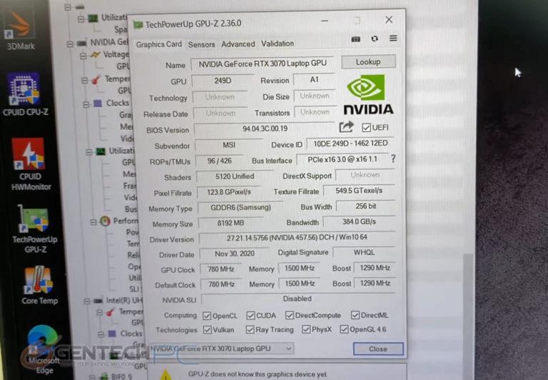msi gs66 stealth geforce rtx 3070 max q 768x532 เผยผลทดสอบการ์ดจอ Nvidia GeForce RTX 3070 Max P มีประสิทธิภาพแรงกว่ารุ่น Max Q มากถึง 30% กันเลยทีเดียว