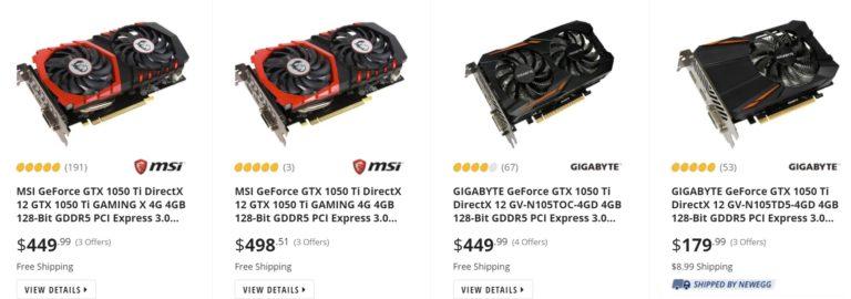 newegg gtx 1050 ti 768x270 ลือ!! ความหวังของเกมส์เมอร์ Nvidia เตรียมนำ Nvidia GeForce GTX 1050 Ti กลับมาขายใหม่อีกครั้ง