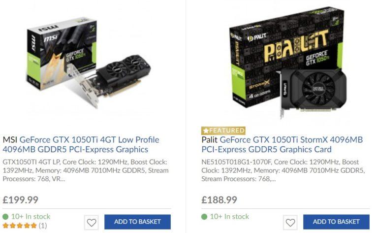 overclockersuk gtx 1050 ti 768x473 ลือ!! ความหวังของเกมส์เมอร์ Nvidia เตรียมนำ Nvidia GeForce GTX 1050 Ti กลับมาขายใหม่อีกครั้ง