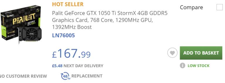 scan uk gtx 1050 ti 768x285 ลือ!! ความหวังของเกมส์เมอร์ Nvidia เตรียมนำ Nvidia GeForce GTX 1050 Ti กลับมาขายใหม่อีกครั้ง