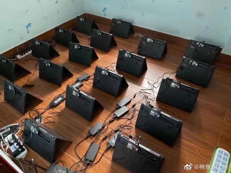 6d0b65e7ly1gnhbmw2105j20m80gomza 768x576 พบแล็ปท็อปเกมส์มิ่งมากกว่า 100เครื่องนำมาขุดเหมืองที่ประเทศจีน