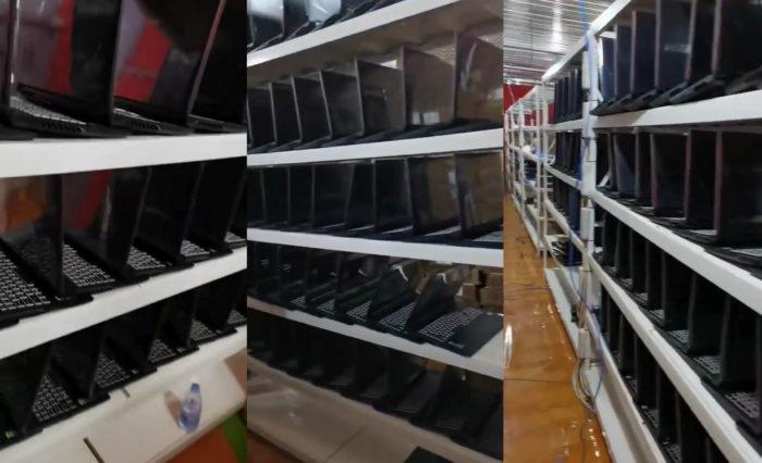 nvidia geforce rtx 30 mobile gpu mining farm 700x426 พบแล็ปท็อปเกมส์มิ่งมากกว่า 100เครื่องนำมาขุดเหมืองที่ประเทศจีน