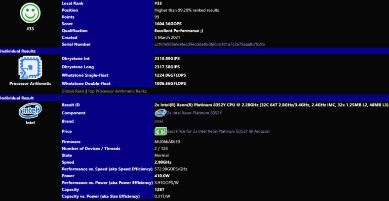 intelr xeonr platinum 8352y cpu 220ghz 768x398 พบข้อมูลซีพียู Intel Ice Lake SP ตระกูล Xeon Scalable รุ่นที่ 3
