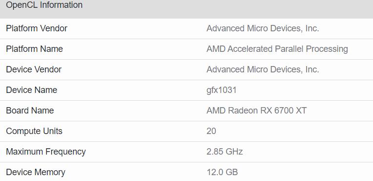 amd radeon rx 6700 xt specs หลุดผลทดสอบการ์ดจอ AMD Radeon RX 6700 XT รุ่นใหม่ล่าสุดที่กำลังจะเปิดตัวในเร็วๆ นี้