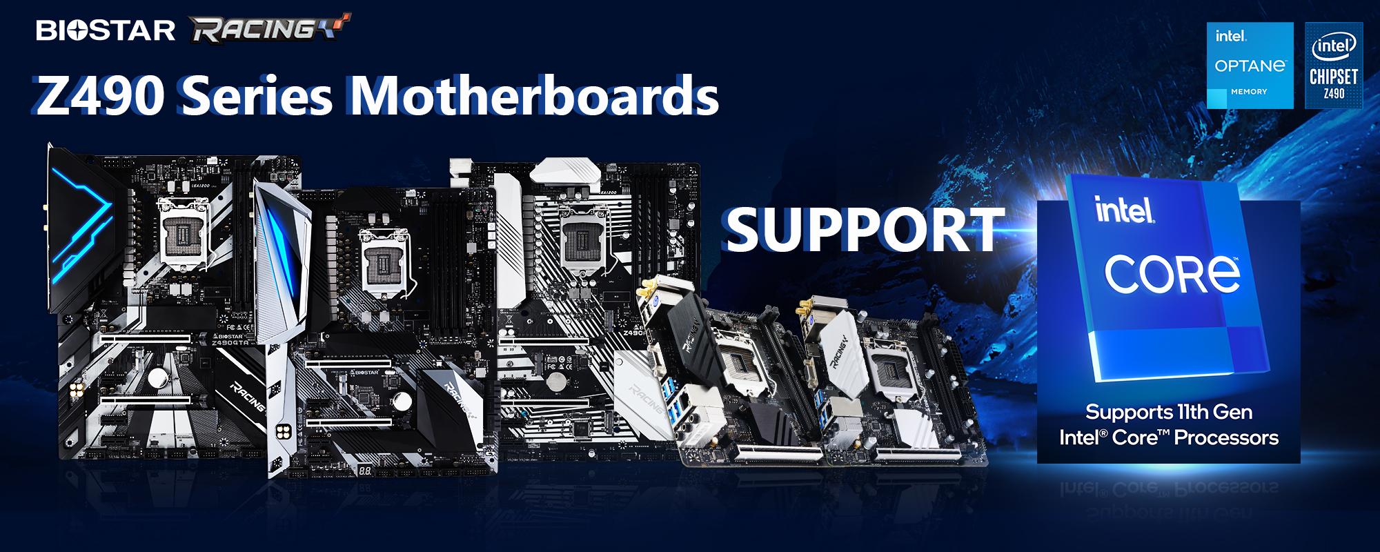 20210121 BIOSTAR ประกาศเมนบอร์ด Z490 สามารถรองรับการใช้งานซีพียู Intel 11th Gen รุ่นใหม่ล่าสุดได้อย่างเต็มประสิทธิภาพการทำงาน