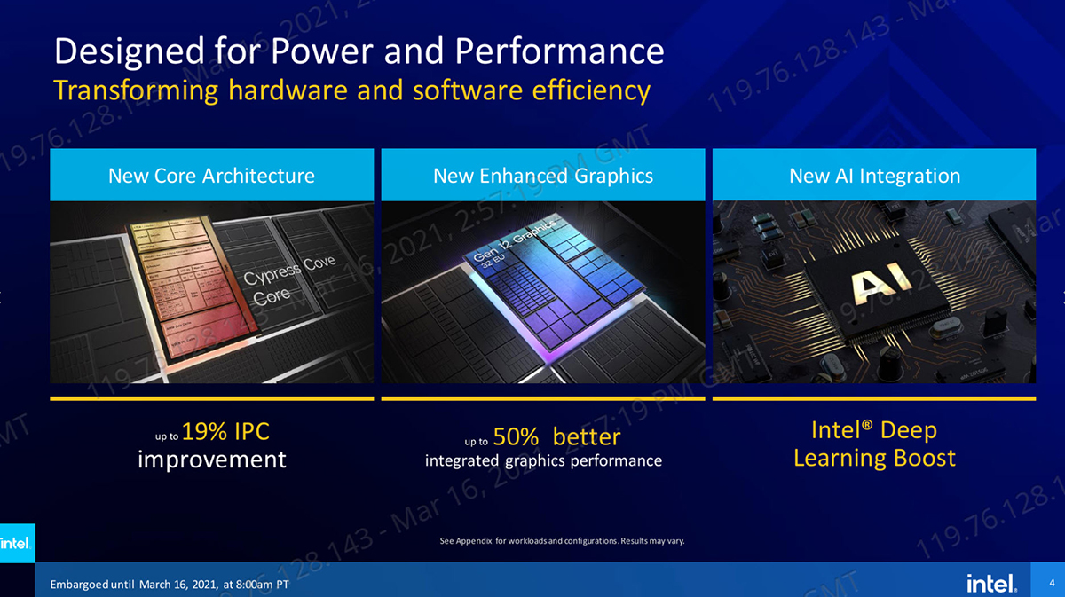 2021 03 16 21 57 38 INTEL เปิดตัวซีพียู Intel 11th Gen รุ่นที่ 11 ใหม่ล่าสุดในรหัส Rocket Lake สถาปัตย์ Cypress Cove Core รุ่นใหม่ล่าสุดมากถึง 30รุ่น พร้อมเปิดให้ Pre Oder ได้แล้วและได้ของประมาณต้นเดือนหน้า