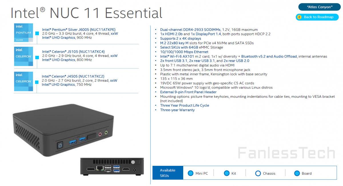 atlas 1200x653 อินเทลเปิดตัว NUC 11 Essential มาพร้อมซีพียู Pentium Silver รุ่นใหม่ล่าสุด